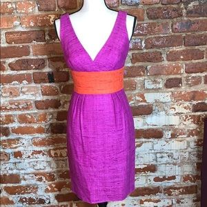 Trina Turk sleeveless silk dress US0 purple/orange